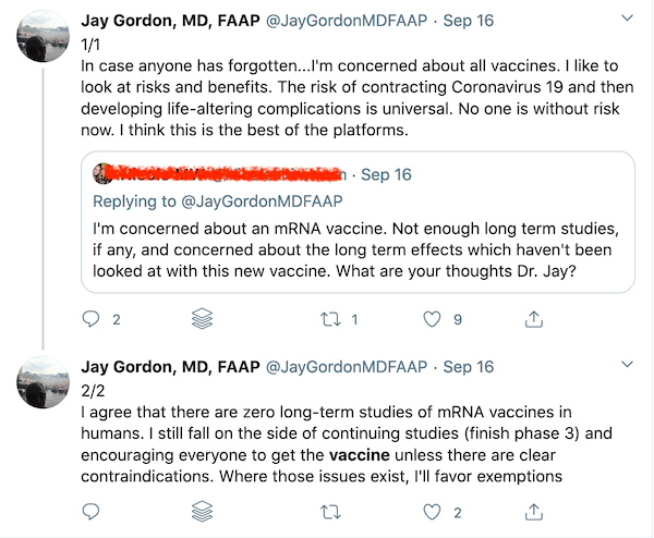 Even Jay Gordon is encouraging folks to get vaccinated and protected against COVID-19.