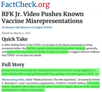"""David Centner was the Executive Producer for Kennedy's Medical Racism """"documentary."""""""