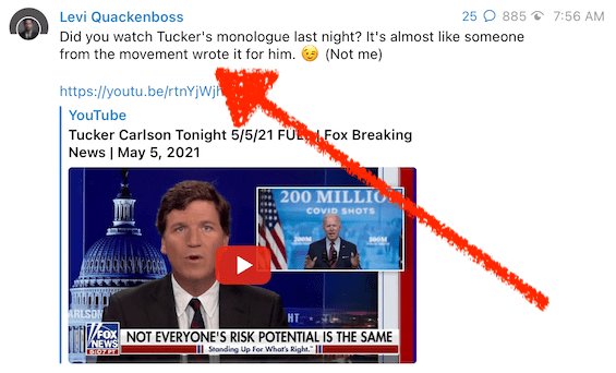 Are folks in the anti-vaccine movement scripting Tucker Carlson's shows now?