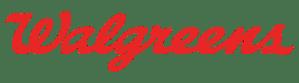Red, horizontal Walgreens logo