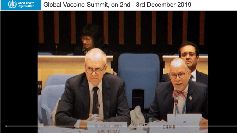 screenshot of global summit 2019 for future of vaccines 2020