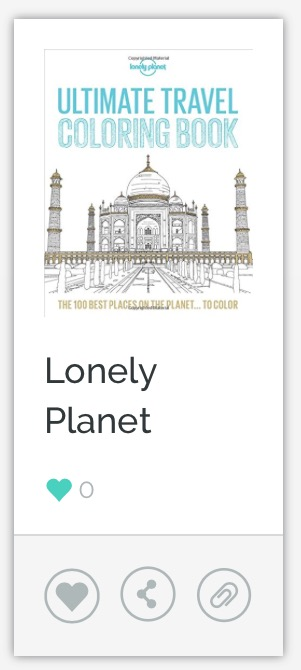 Lonely Planet Ultimate Travel Coloring Book