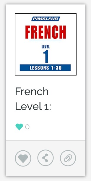 Pimsleur French Level 1