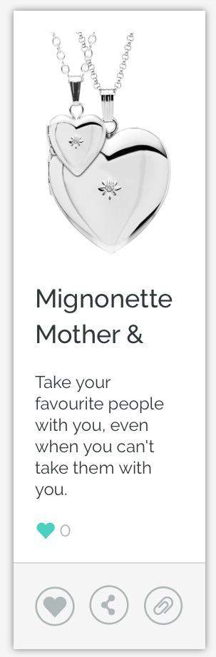 Mignonette Locket Set