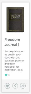 Freedom Journal 100-Day Goal Planner
