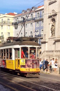 Trolley Car in Lisbon, Portugal
