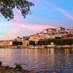 Travel Sunset in Coimbra, Portugal