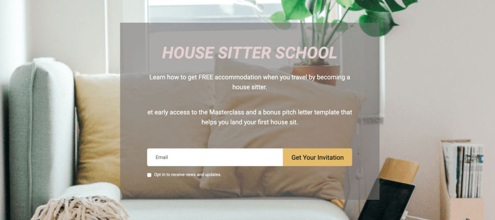 picture of the house sitter school website