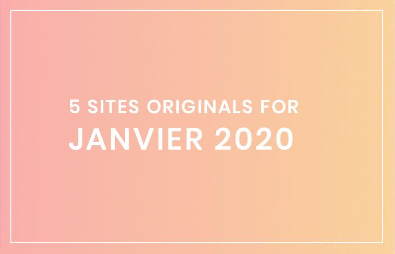 5 sites tendances pour janvier 2020