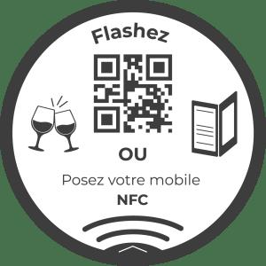 sticker-dome-nfc-menu-digital-vazee