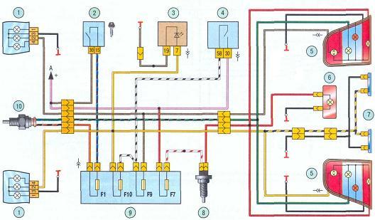 Схемы проводки на Ладу Калину: распиновки и расшифровки