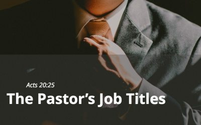 The Pastor's Job Titles
