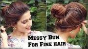 3 easy everyday messy bun hairstyle