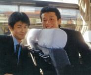 2003ワールドカップ新幹線でしらすさんと阿部ちゃんリサイズ