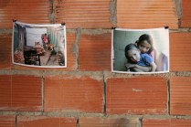"In one exhibit, ""My House, My Body,"" (""Mi casa, mi cuerpo,"" families who were forcibly displaced to Bogotá tell their stories and their dreams of having a home."