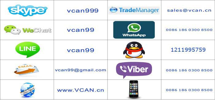 VCAN skype wechat line trademanager whatsapp qq phone