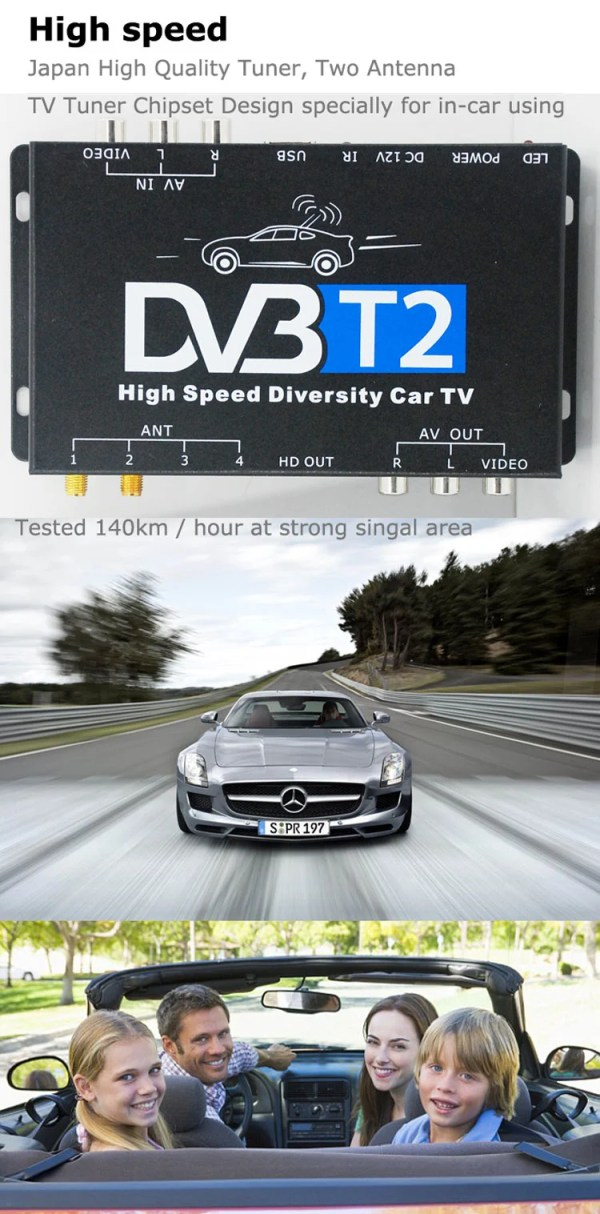 Car DVB-T2 automobile DTV box