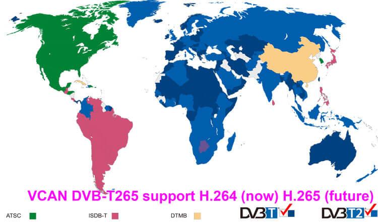DVB T265 HEVC Germany italy czech slovakia china factory