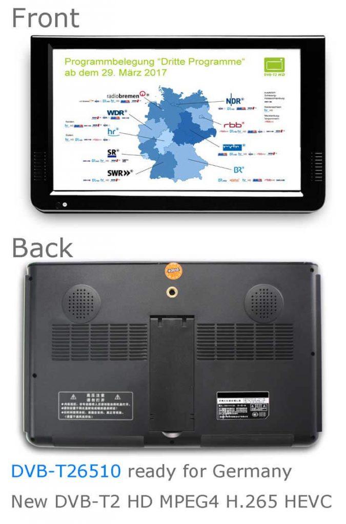 DVB T26510 Ready for germany dvb t2 hd mpeg4 h265 hevc 1