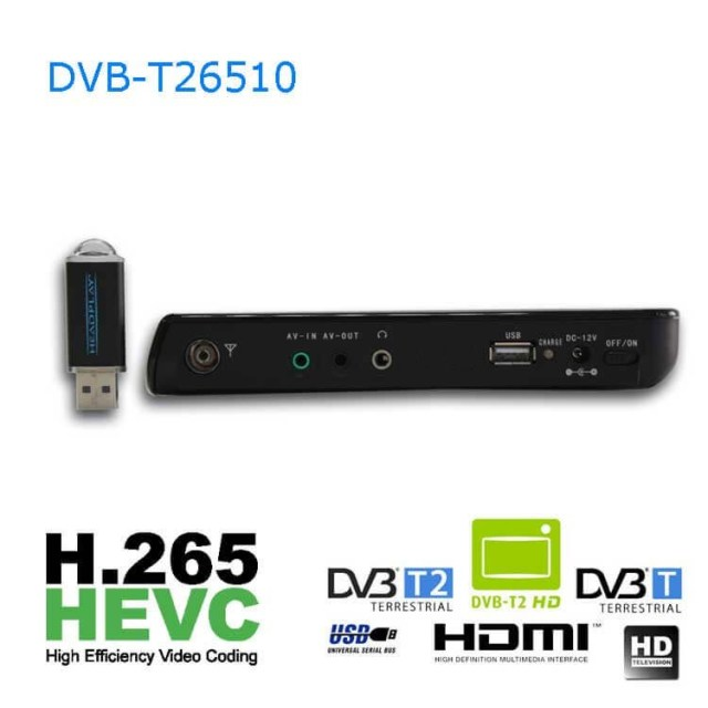10 DVB-T2 H265 HEVC AC3 Codec Portable TV PVR Multimedia Player Analog kitchen bedroom car DVB-T26510 9 -