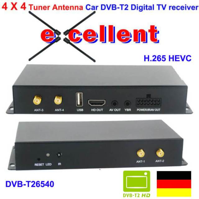 สหพันธ์สาธารณรัฐเยอรมนีรถยนต์ DVB-T2 H265 4 ผู้ปรับเสียง