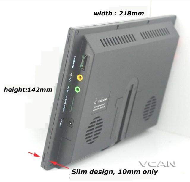 ISDB-T9 9 inch isdb-t full seg digital tv b-cas 2x2 tuner antenna with GPS / FM transmitter 6 -