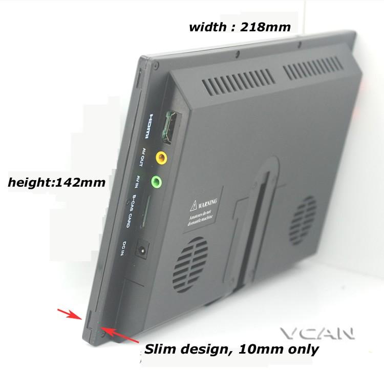 ISDB T9 9 inch isdb t full seg digital tv b cas 2x2 tuner antenna 5