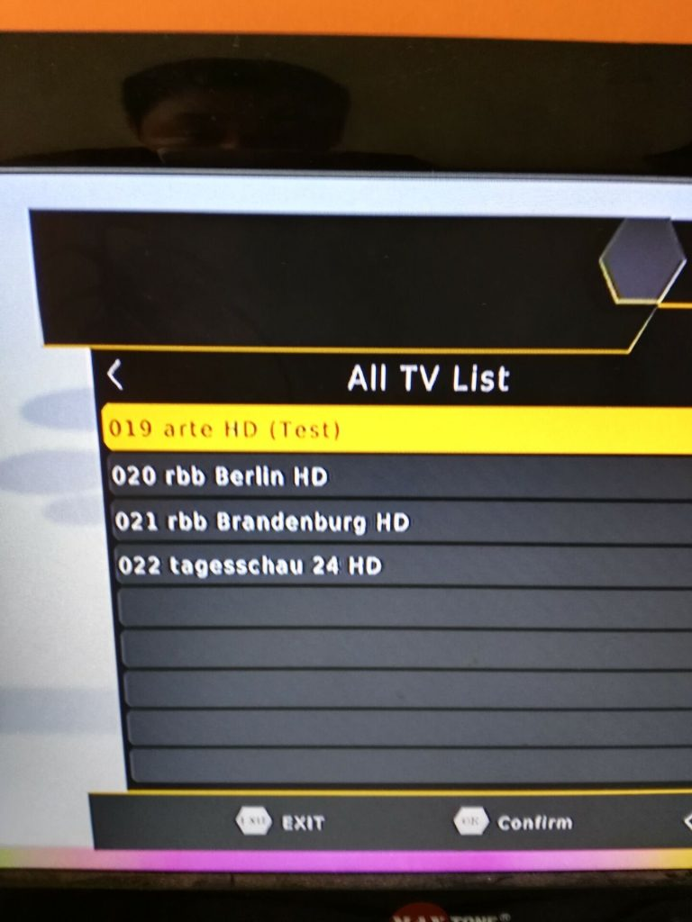 Channel list 1