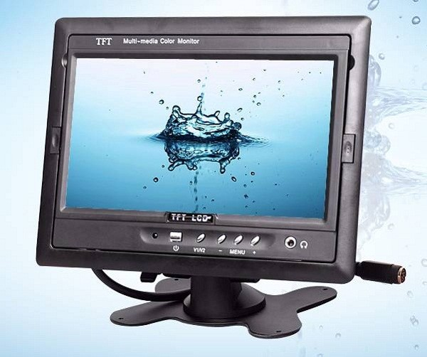 TM-7003A Car 7 inch TFT LCD Monitor 2CH Video Input rear view
