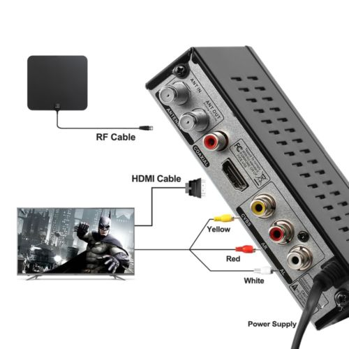 Mexico ATSC TV Receiver Digital TV MPEG4 HDMI USB PVR VCAN1078 for USA Canada 14 -