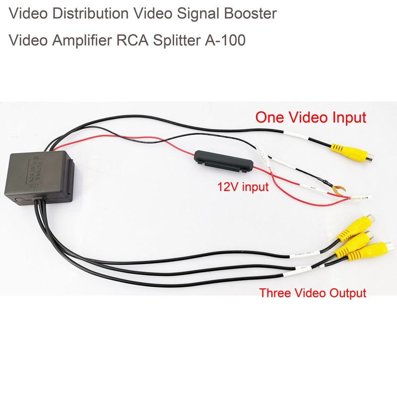 Video Distribution Video Signal Booster Video Amplifier for Car DVD Distribution RCA Splitter A-100 4 -