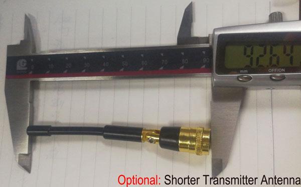 la antena del transmisor COFDM