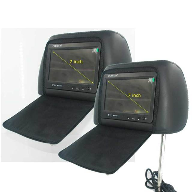 7 inch headrest monitor with pillow bag LED backlight cover zipper 9 -