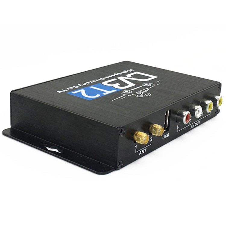 Car DVB-T2 DVB-T Multi PLP Digital TV Receiver 2 Antenna Diversity Dual Aerial H264 MPEG4 HD High Speed FTA STB 9 -