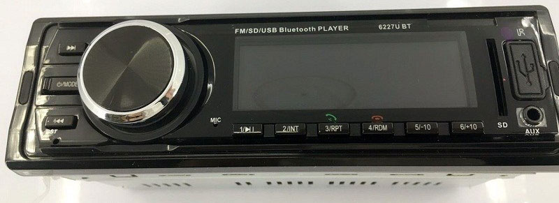 Fixed Panel Car MP3 USB SD FM Bluetooth RDS MP3-6227 12 -