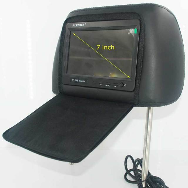 7 inch headrest monitor with pillow bag LED backlight cover zipper 11 -