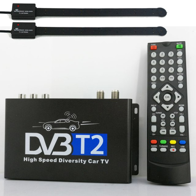 Car DVB-T2 H265 HEVC Codec Digital TV Receiver Auto Mobile Germany Standard 2 antenna H264 HD for all dvb country 11 -