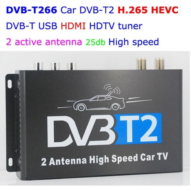 Car DVB-T2 H265