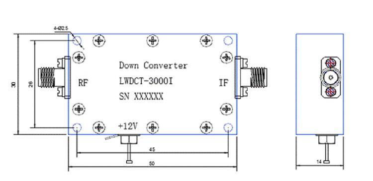 Digital Down Converter COFDM Transfer frequency 2.4G to 600Mhz low BDC 4 -