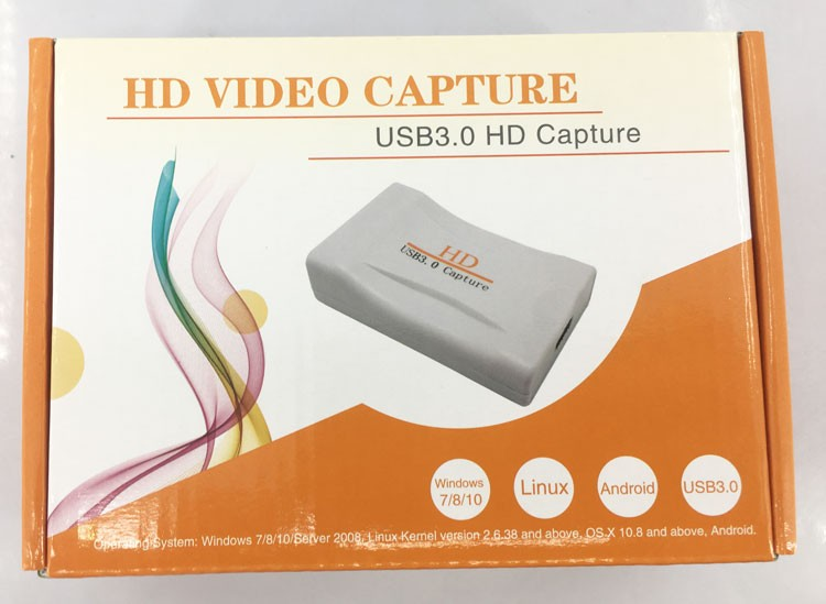 HDMI to USB 3.0 Video Capture Card Adapter 1080P 60fps HD Recorder Box For Mac Windows Linux Android 12 -