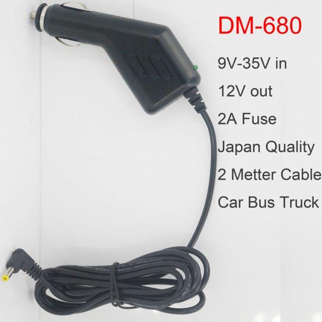 9V-35V Car power Cigarette Lighter truck bus 2A 2meter cable DM-680 12 -