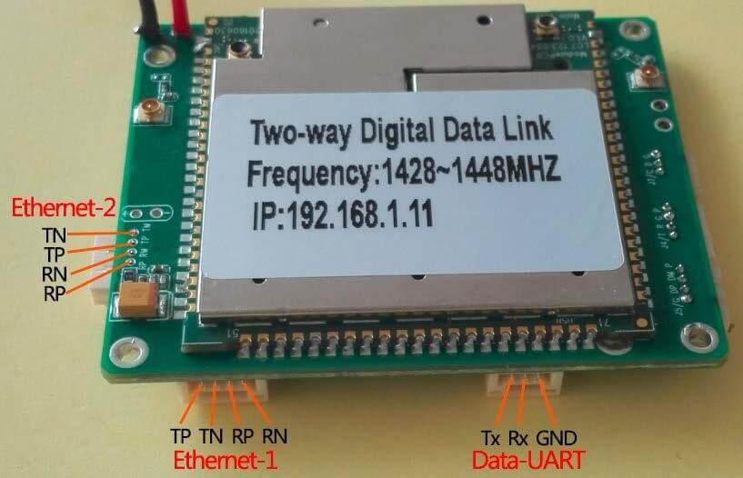 two way digital data link ethernet data interface