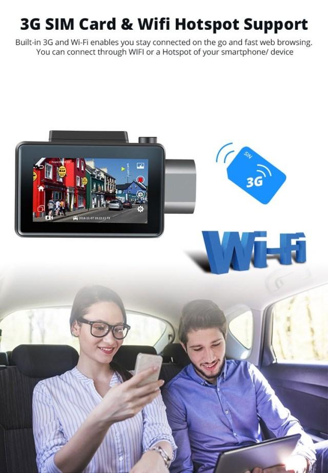 Android DVR dashcam car camera 3.0 inch full 1080 HD GPS logger dual camera video recorder Vcan1608 20 -