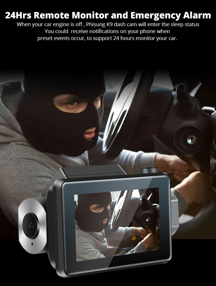 Android DVR dashcam car camera 3.0 inch full 1080 HD GPS logger dual camera video recorder Vcan1608 11 -