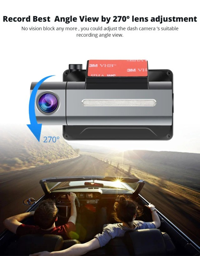 Android DVR dashcam car camera 3.0 inch full 1080 HD GPS logger dual camera video recorder Vcan1608 3 -