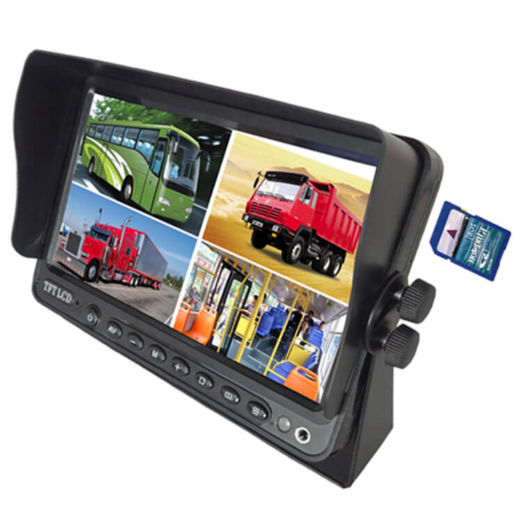 7 inch Wireless DVR quad monitor camera for Truck vehicle with AHD 1280 Night Vision HD Wifi Camera SD card 5