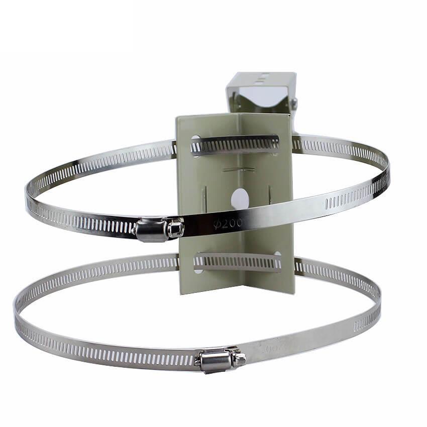 Pipe Lamp Post mount camera bracket Universal Surveillance Pole Mounting CCTV Camera Outdoor Housing Ring 2