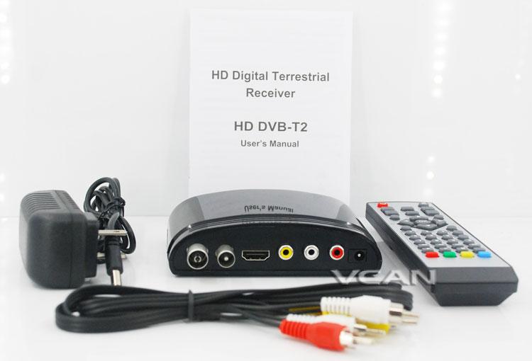 DVB-T2 Mini Digital TV receiver Set Top Box Home HDTV HDMI USB 1