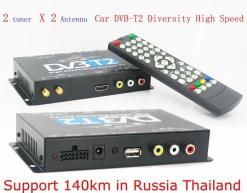 2 antenna car DVB-T2 Two tuner tv Diversity USB HDMI HDTV High Speed dvb-t22 13