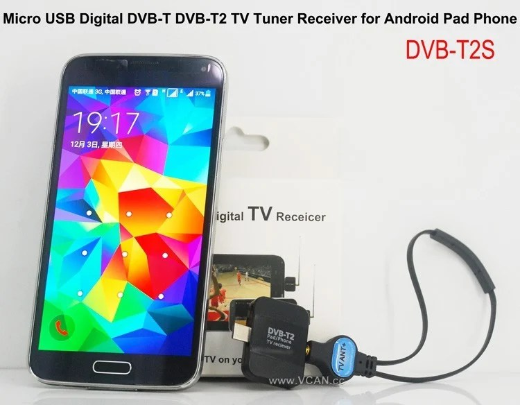 Mobile Phone DVB-T2 TV stick Tuner Receiver Micro USB for android pad digital